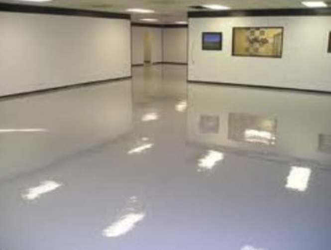 Chất phủ bóng sàn AVCO Q-Gloss sử dụng trên sàn nhà