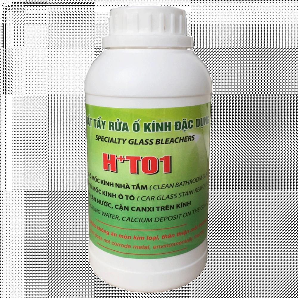 chất tẩy cặn canxi trên kính H+T01