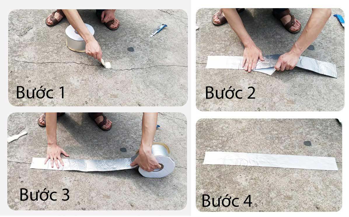 Các bước sử dụng bảng keo chống thấm Butyl Nhật bản