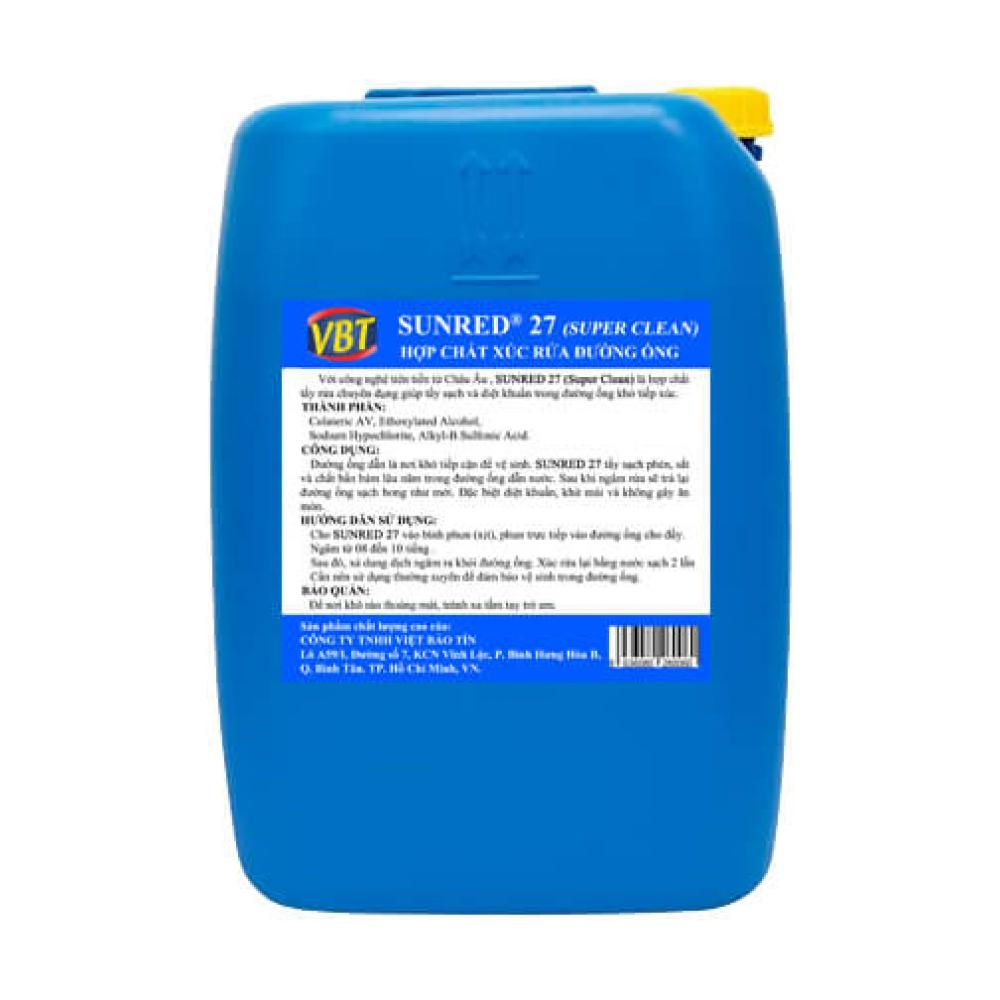 Hóa chất xúc rửa đường ống VBT SUNRED 27