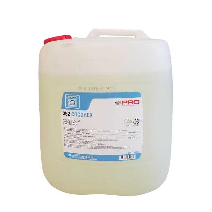 Dung dịch tẩy trắng & sát khuẩn vải gốc Chlorine GMP 352 - Cocorex 20L